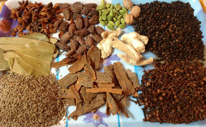 cooking Nigerian meal with natural spices